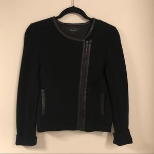 Women's rag & bone moto sweater jacket black small